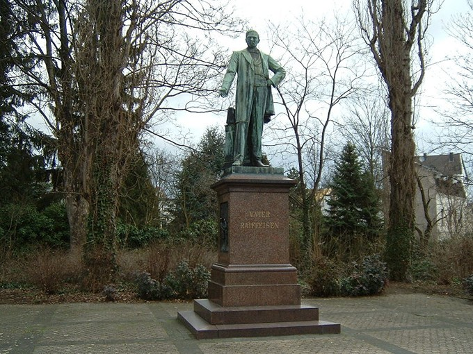 Raiffeisen-Denkmal in Neuwied (Foto: F. Lang, Quelle:wikipedia)
